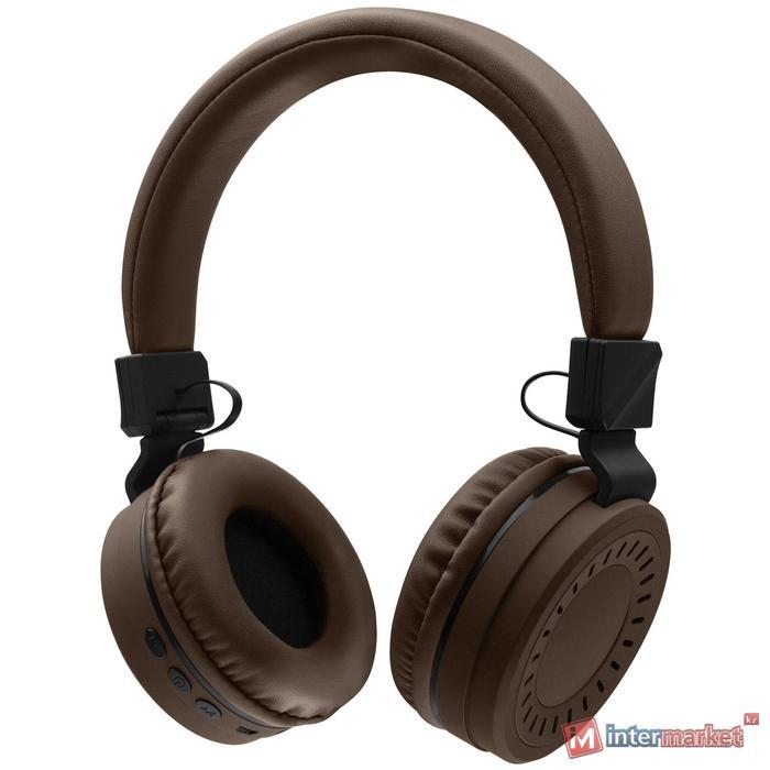 Bluetooth гарнитура Rombica MySound BH-11, 20Hz-20kHz, 32 Om, 66 dB, BT 5.0, FM, microSD, 1.3m,Brown