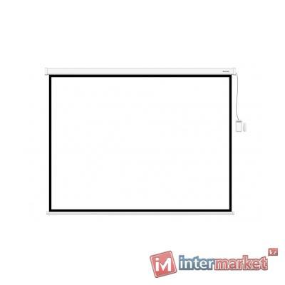 Экран моторизированный (с пультом Д/У), Deluxe, DLS-ERC265x149W, Настенный/потолочный, Раб. поверхность 257x141, 16:9, Matt white, Белый